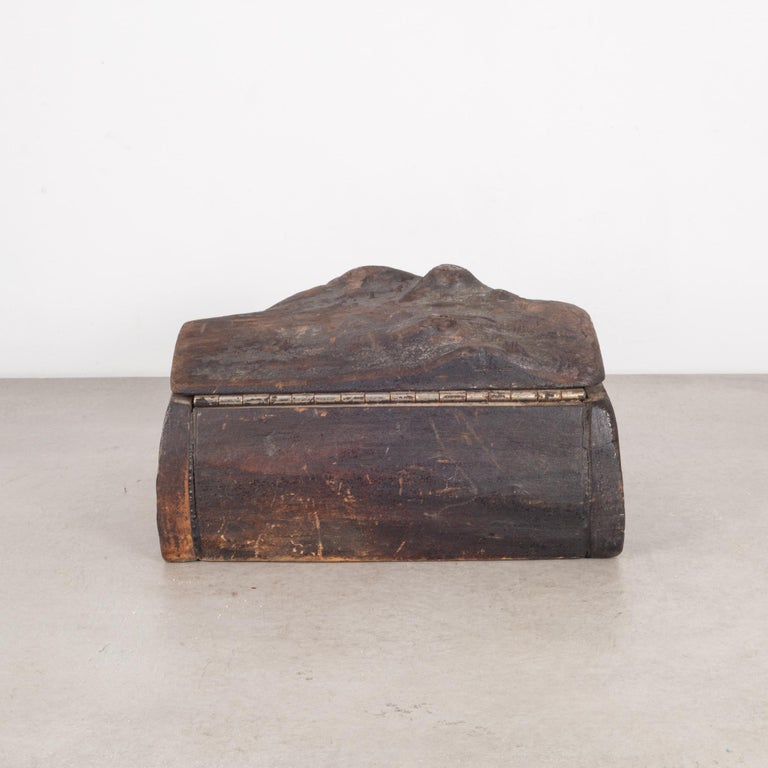 20th Century Handmade Rustic Wooden Box, circa 1940-1960 For Sale