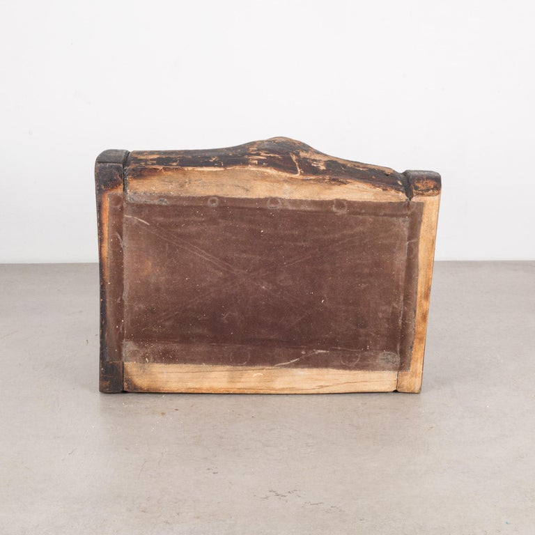 Handmade Rustic Wooden Box, circa 1940-1960 For Sale 2