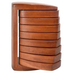 Handmade Sculptural Pivoting Wooden Jewelry Box by Kellams Studio