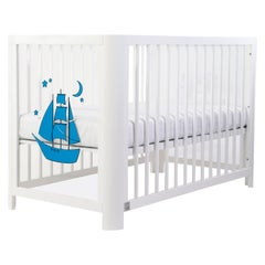 Handmade Sense of Sea 5-in-1 Crib in Wood and Acrylic by MISK Nursery