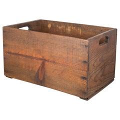 Handmade Shoe Factory Wooden Crate, circa 1940