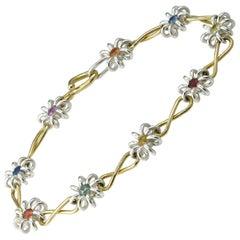 Handmade Silver and Gold Bracelet by Lucie Heskett-Brem