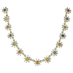 Handmade Silver and Gold Necklace by Lucie Heskett-Brem