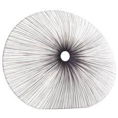 Handmade Silver Pleated Silk Sahara Floor Lamp