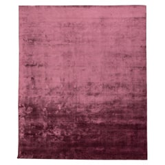 Handmade Smooth Purple Color in Silk Rug