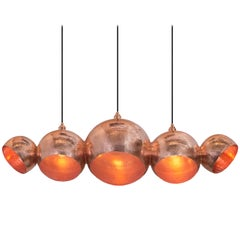 Handmade Solid Polished Copper Modern Chandelier