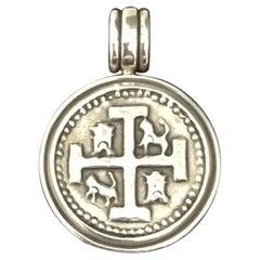 Handmade Spanish Coin Medallion Pendant