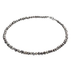 Handmade Sterling Silver Bead and Diamond Choker / Bracelet by Embirikos