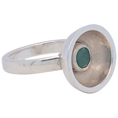 Handmade Sterling Silver One of a Kind Emerald Ring