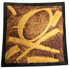 Patrick Horsley Handmade Stoneware Abstract Modern Graphic Design Tray Wall Art