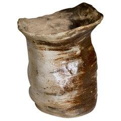 Handmade Stoneware Théogonie no.3 Vase by Cécile Ducommun