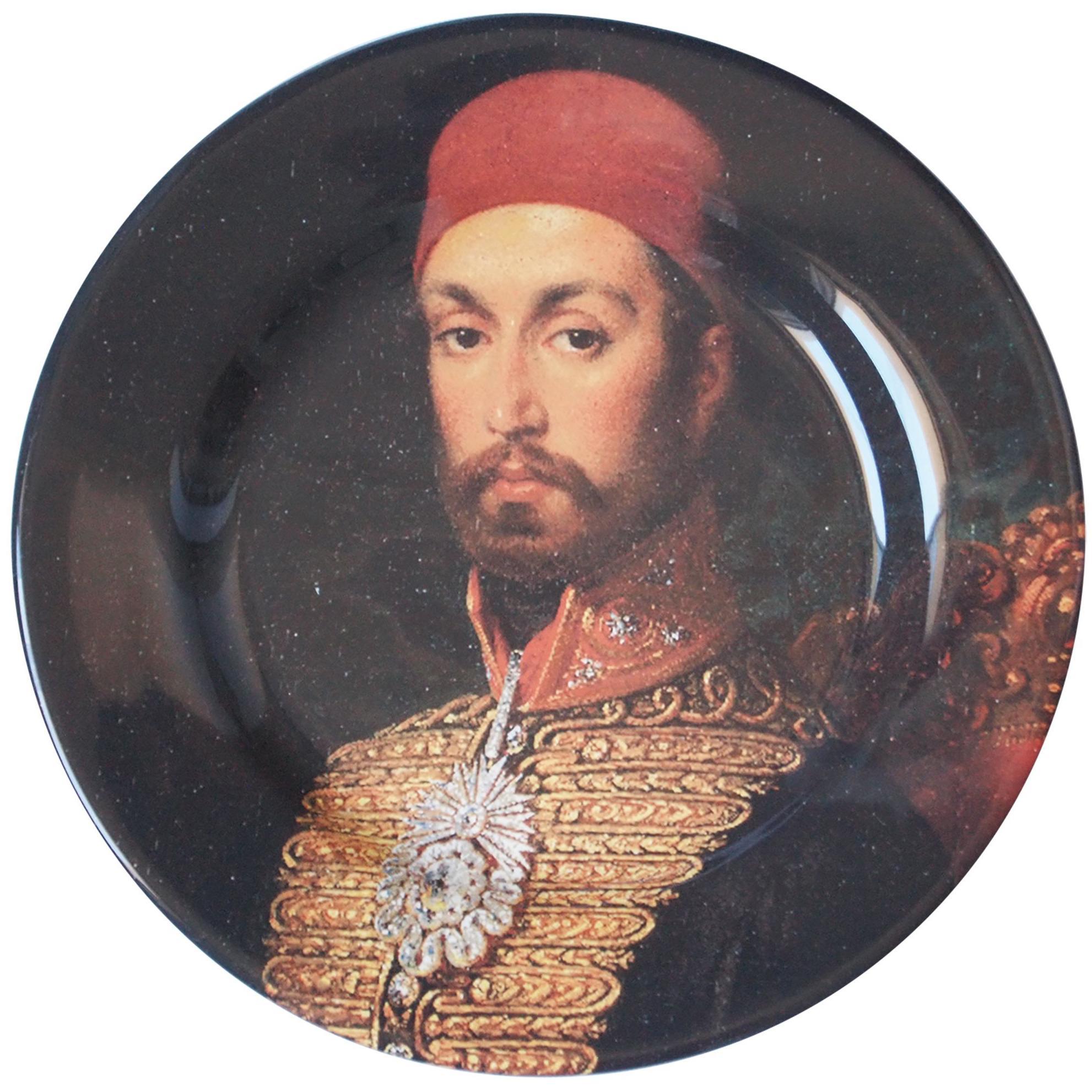Handmade Sultan Abdulmecid Ceramic Plate