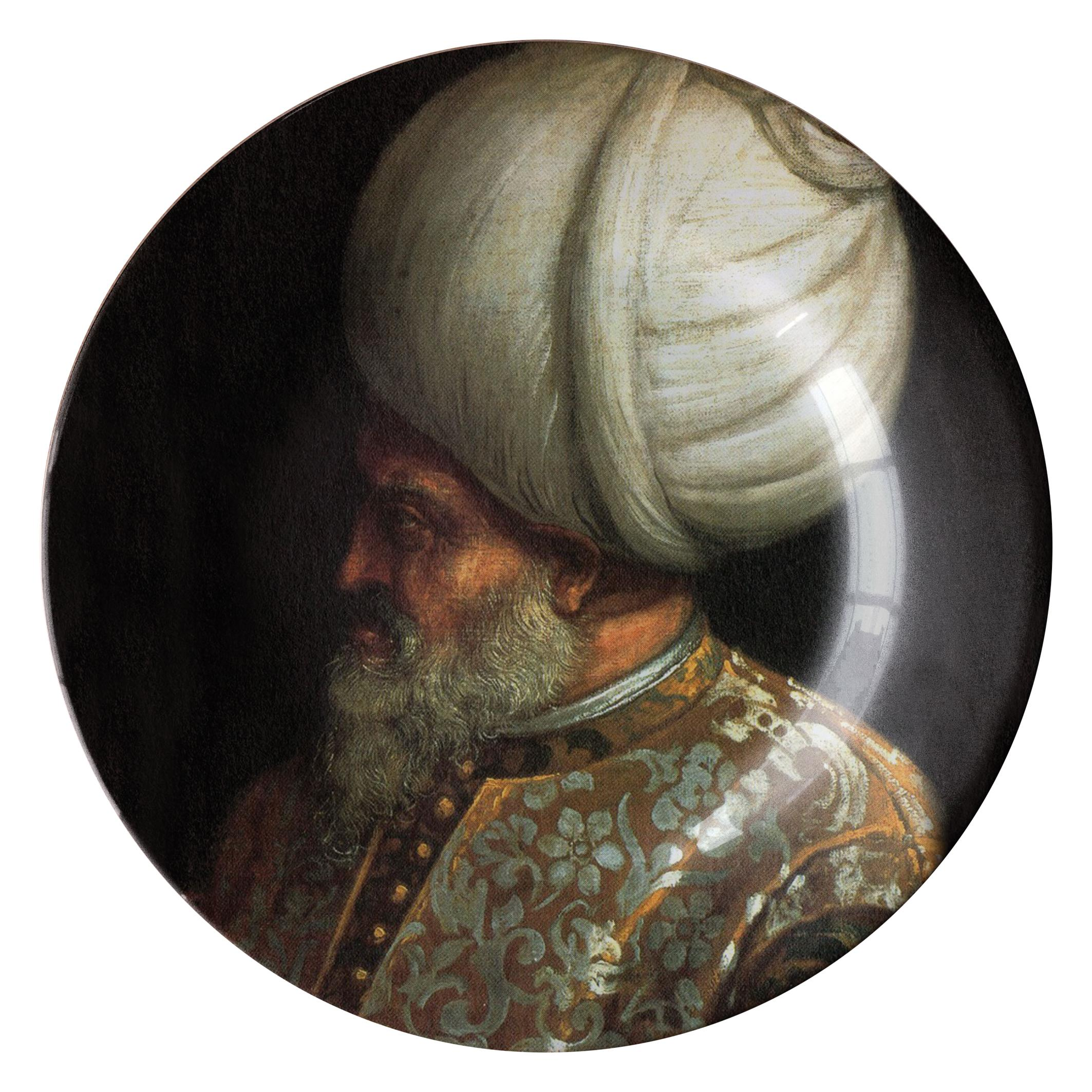 Handmade Sultan Beyazit Ceramic Plate
