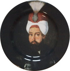 Handmade Sultan Selim Ceramic Dinner Plate