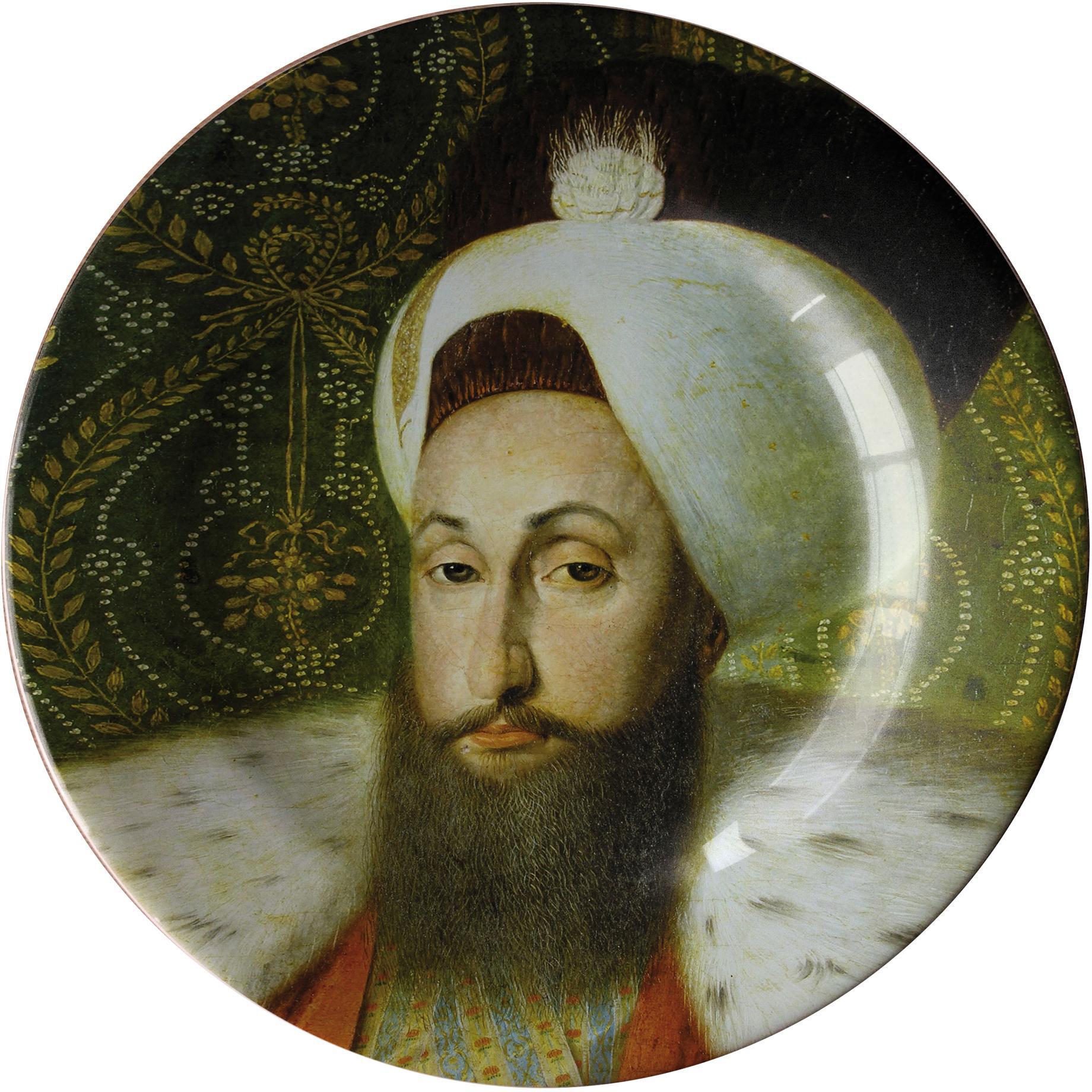 Handmade Sultan Selim III Ceramic Dinner Plate