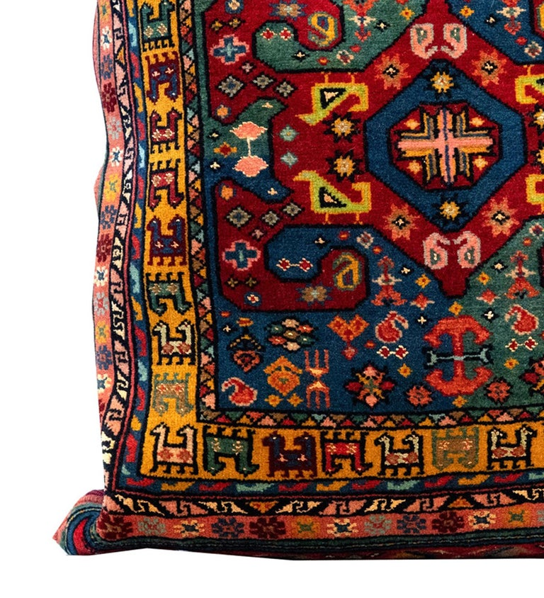 Afghan Handmade Tribal Pillow Cover, Traditional Pillow Carpet Floor Cushion Cover For Sale