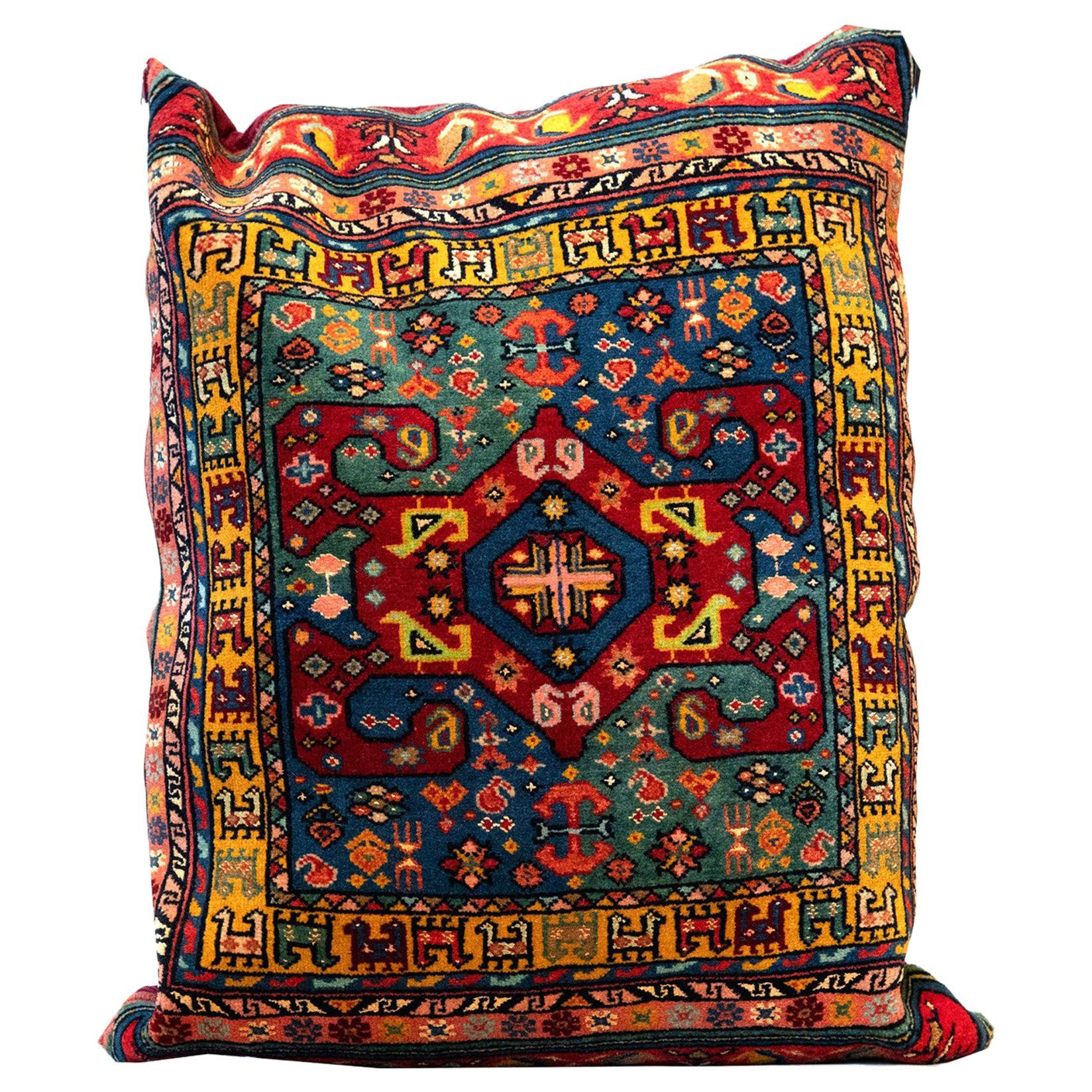 Handmade Tribal Pillow Cover, Traditional Pillow Carpet Floor Cushion Cover
