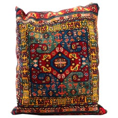 Handmade Tribal Pillow Cover, Traditional Pillow Carpet Floor Cushion