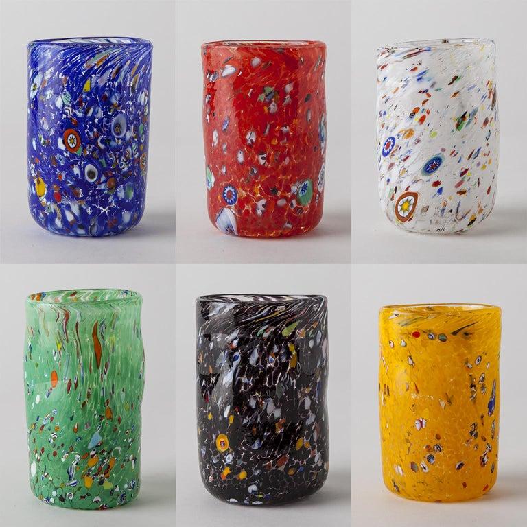 Contemporary Handmade Unique Murano Glass Drinking Glass Goto For Sale