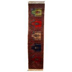 Handmade Uzbek Bukhara Prayer Rug, 1970s, 1C637