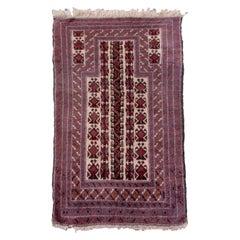 Handmade Vintage Afghan Baluch Prayer Rug, 1940s, 1Q0065
