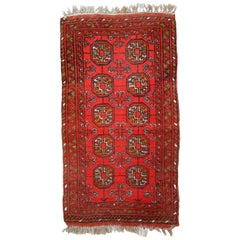 Handmade Vintage Afghan Ersari Rug, 1950s, 1C668