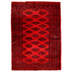 Handmade Vintage Afghan Ersari Rug, 1970s, 1C655