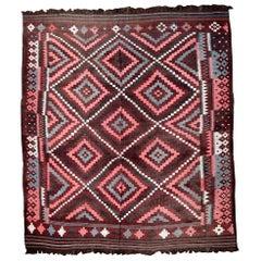 Handmade Vintage Afghan Kilim, 1950s, 1P86