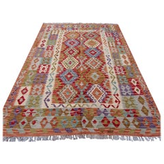 Handmade Vintage Afghan Kilim, 1970s, 1Q0259