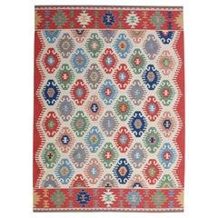Handmade Vintage Afghan Kilim, 1980s, 1N02