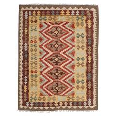 Handmade Vintage Afghan Kilim, 1980s, 1N03
