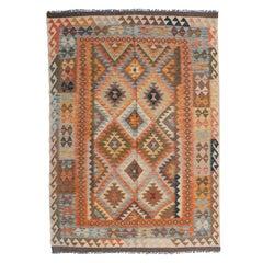 Handmade Vintage Afghan Kilim, 1980s, 1N04