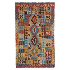 Handmade Vintage Afghan Kilim, 1980s, 1N08