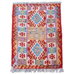 Handmade Vintage Afghan Kilim, 1980s, 1Q0023