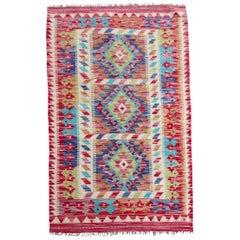Handmade Vintage Afghan Kilim Rug, 1980s, 1Q0205