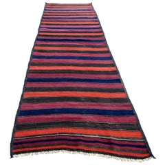 Handmade Vintage Afghan Kilim Runner, 1960s, 1Q0192