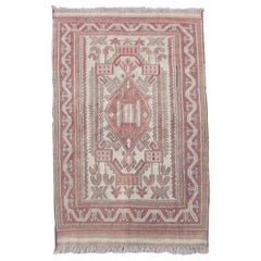 Handmade Vintage Afghan Sumak Kilim, 1960s, 1Q0076