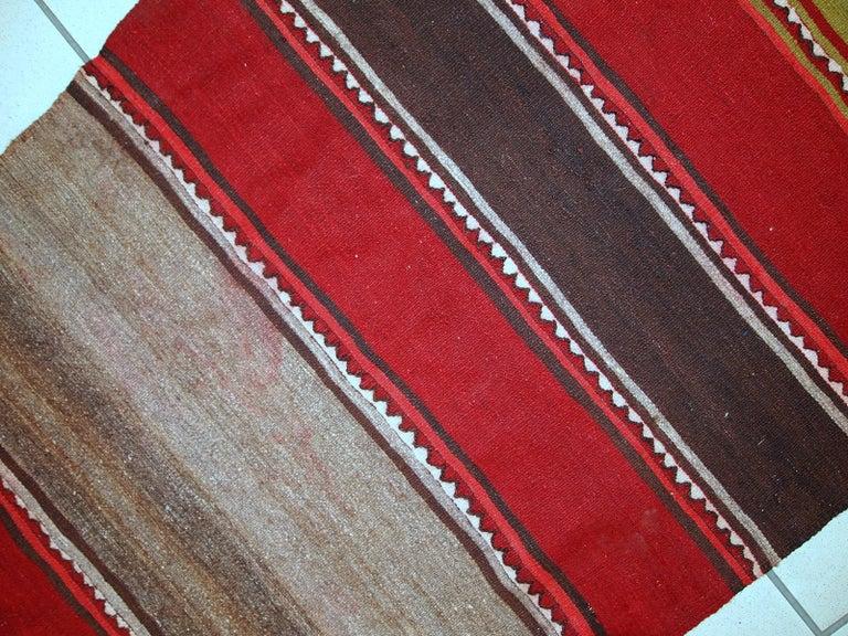 Handmade Vintage Ardabil Kilim Style Runner, 1950s, 1C355 For Sale 3