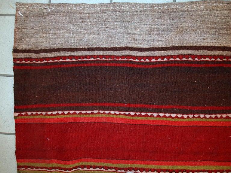 Handmade Vintage Ardabil Kilim Style Runner, 1950s, 1C355 For Sale 5