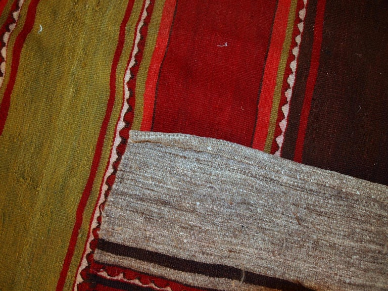 Asian Handmade Vintage Ardabil Kilim Style Runner, 1950s, 1C355 For Sale