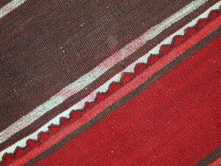Wool Handmade Vintage Ardabil Kilim Style Runner, 1950s, 1C355 For Sale