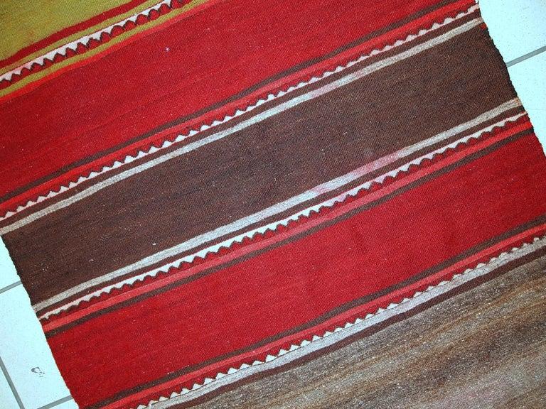 Handmade Vintage Ardabil Kilim Style Runner, 1950s, 1C355 For Sale 1