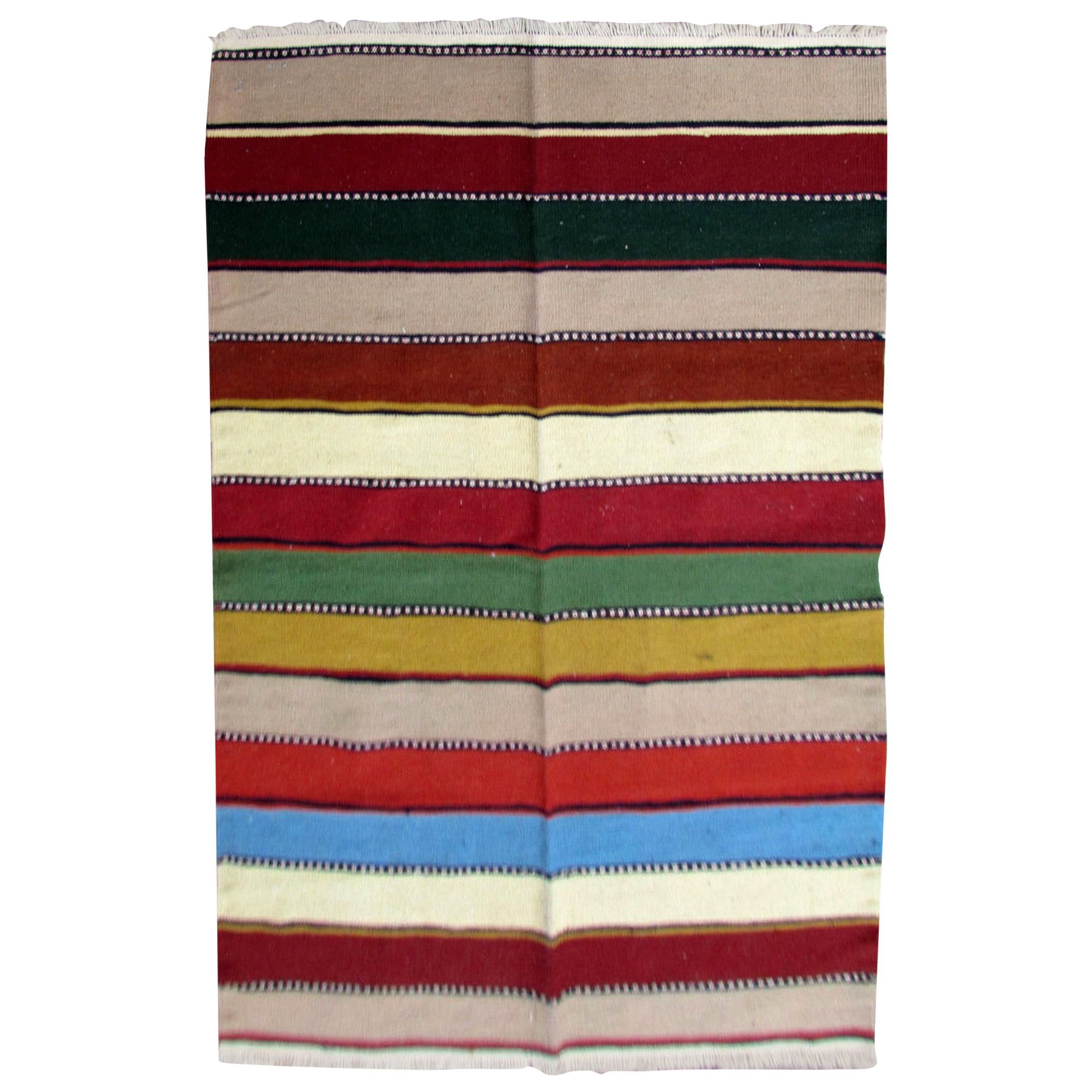 Handmade Vintage Ardabil Style Kilim, 1970s, 1Q0230