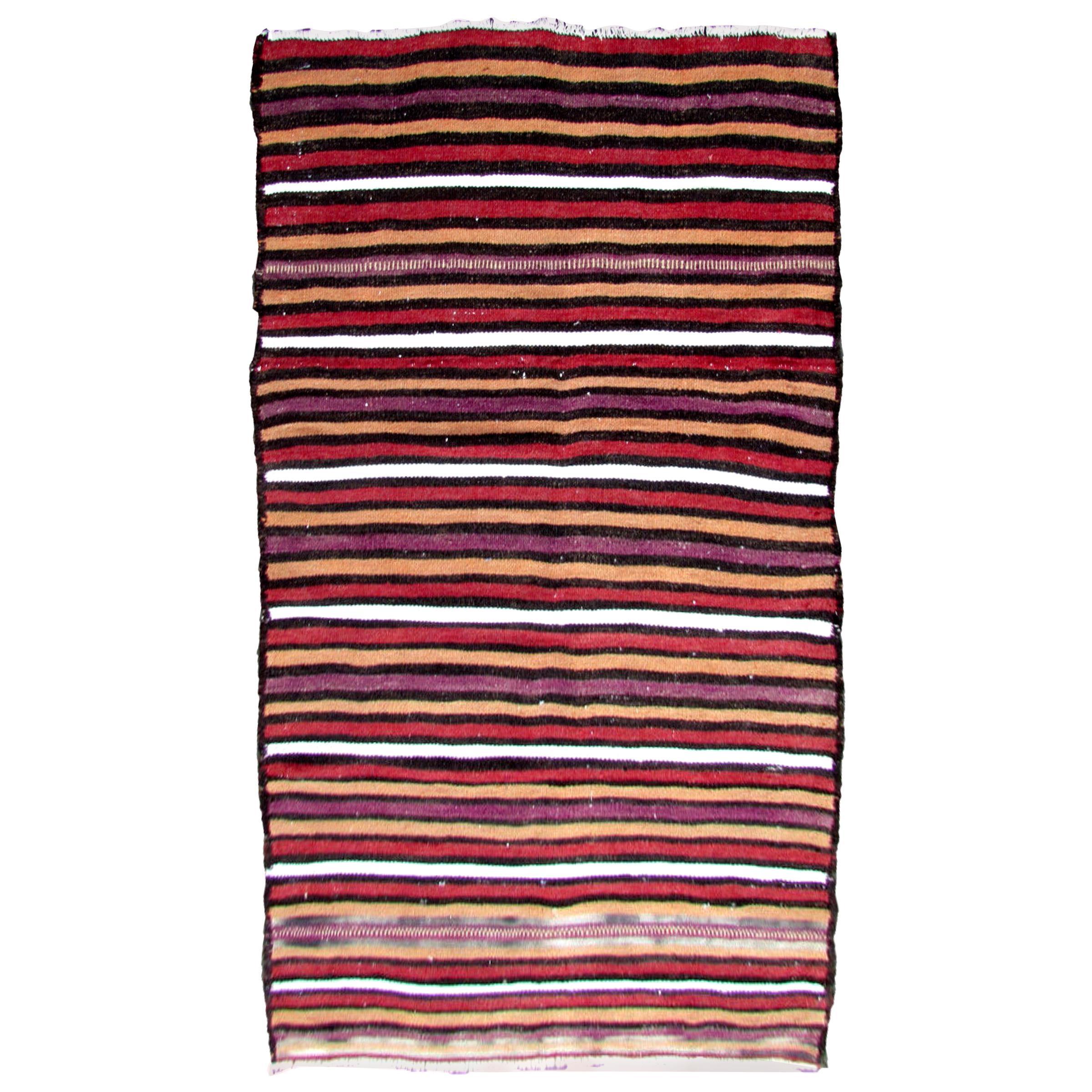 Handmade Vintage Ardabil Style Kilim, 1970s, 1Q0284