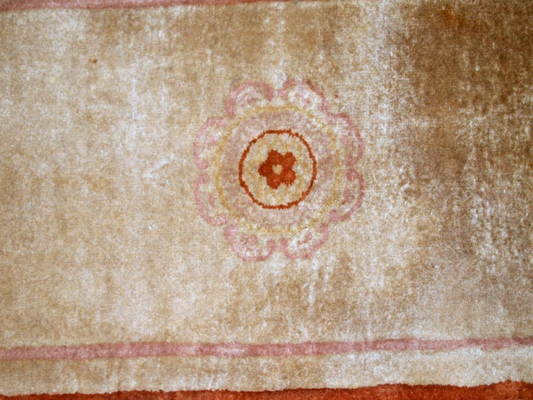 Handmade Vintage Chinese Rug, 1970s, 1B850 In Good Condition For Sale In Bordeaux, FR