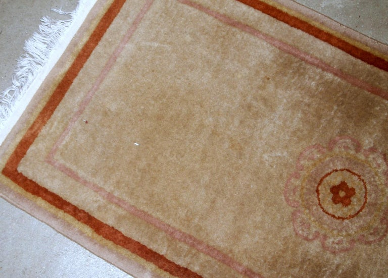 Late 20th Century Handmade Vintage Chinese Rug, 1970s, 1B850 For Sale