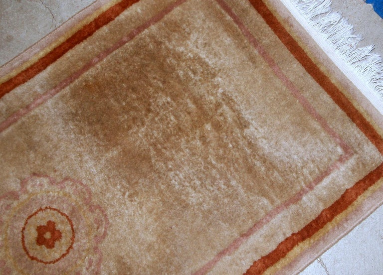 Handmade Vintage Chinese Rug, 1970s, 1B850 For Sale 1