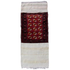 Handmade Vintage Ersari Rug, 1950s, 1Q0059