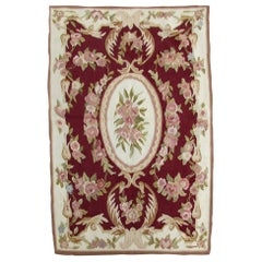 Handmade Vintage French Aubusson Rug, 1970s, 1Q0184