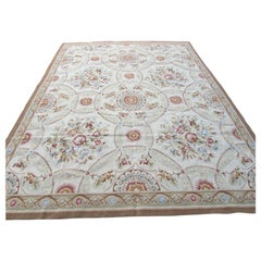 Handmade Vintage French Aubusson Rug, 1970s, 1Q0187